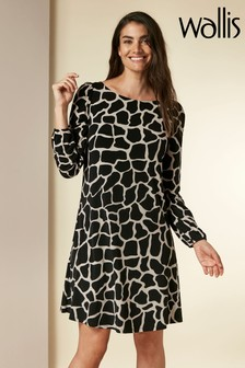 Wallis Neutral Giraffe Swing Dress