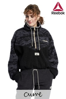 Reebok Curve Classics Fleece 1/2 Zip Jacket