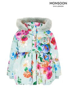 Monsoon Children Blue Baby Rochella Padded Coat