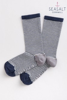 Seasalt Women's Sailor Mini Stripe Magpie Socks