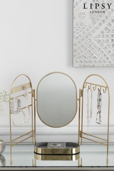 Lipsy Gold Mirror Jewellery Stand