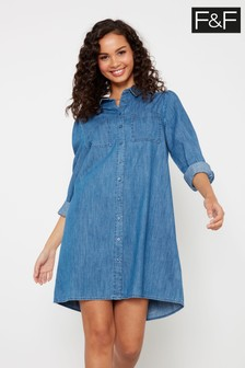 F&F Blue Denim Dress