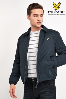 Lyle & Scott Navy Wadded Harrington Jacket