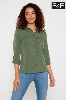 F&F Khaki Utility Shirt