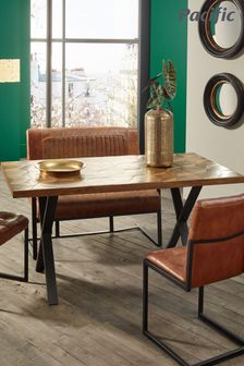 Pacific Lifestyle Recycled Wood Metal Mix Dining Table