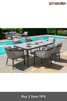 Portofino 6 Seater Rectangular Dining Set By Maze Rattan