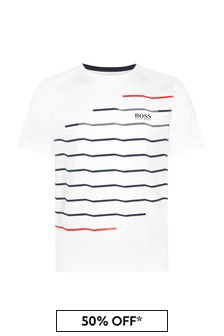 Boys White Cotton T-Shirt