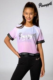 Pineapple Ombre Mesh Jacquard T-Shirt