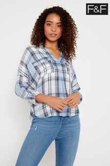 F&F Blue Check Shirt