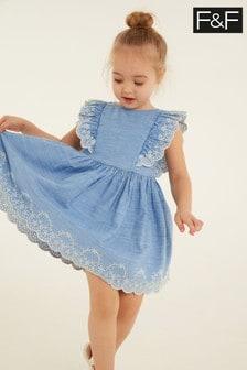 F&F Denim Broderie Dress