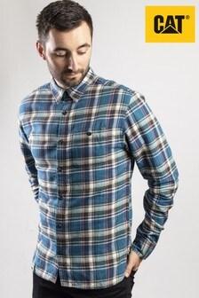 CAT® Lifestyle Blue Bradley Long Sleeve Shirt