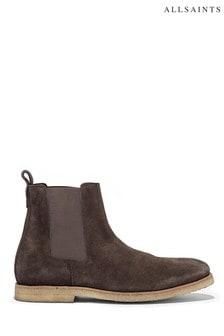 AllSaints Grey Reiner Chelsea Suede Boots