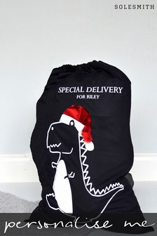Personalised Dinosaur Christmas Sack by Solesmith