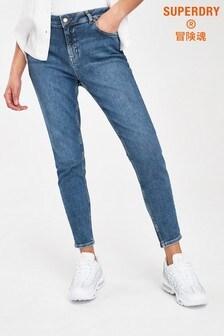 Superdry Dark Blue Mid Rise Skinny Jeans