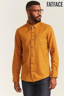 FatFace Yellow Brushed Twill Shirt