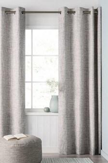 Printed Texture Eyelet Curtains