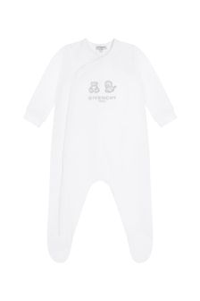 Givenchy Kids Baby White Cotton Babygrow