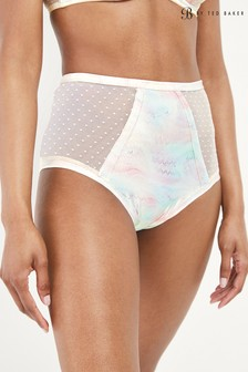 B by Ted Baker Satin High Waist Knickers