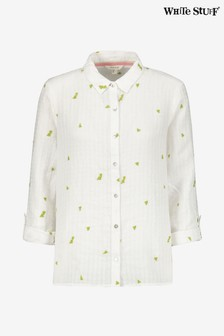 White Stuff White Kirby Linen Shirt