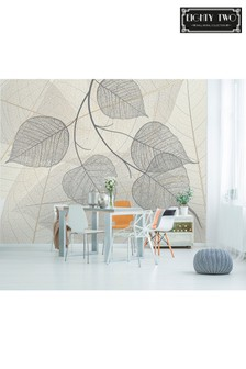 Exclusive To Next Fossil Leaf Wall Mural by Eighty Two