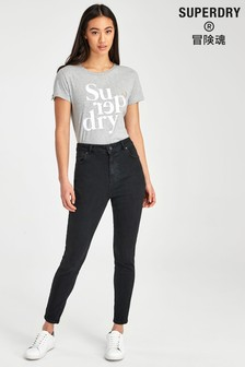 Superdry Black High Rise Skinny Jeans