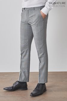 Slim Fit Signature Check Suit: Trousers