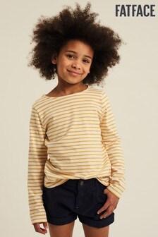 FatFace Yellow Breton T-Shirt