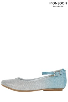 Monsoon Alexa Blue Ombre Ballerinas