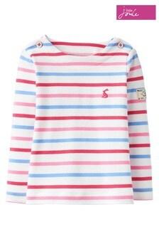 Joules Harbour Jersey-Top mit Streifen, weiß