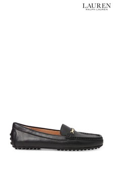 Ralph Lauren Black Leather Briony Loafers