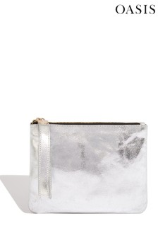 Oasis Silver Leather Pouch