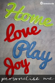 Personalised Short Acrylic Word Sign by Loveabode