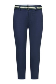 Boys Navy Cotton Chino Trousers