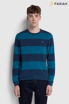 Niebieska bluza dresowa w paski Farah Barnes