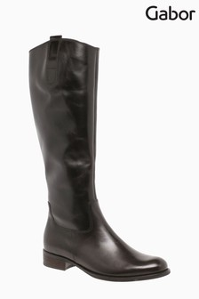 Gabor Brook Espresso Leather Knee Length Fashion Boots
