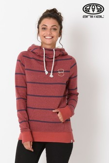 Animal Mineral Red Wrapped Up Longline Hoody
