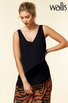 Wallis Black Asymmetric Cami
