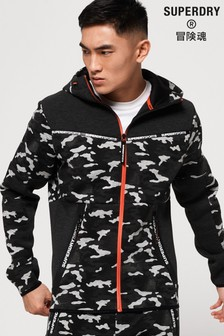 Superdry Gym Tech Stretch Camo Zip Hoody