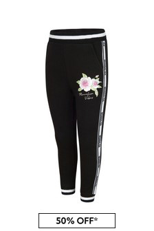 Monnalisa Black Cotton Joggers
