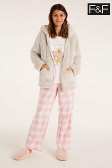 F&F Cream Winnie Pyjamas Three Piece Set