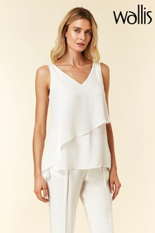 Wallis Cream Asymmetric Cami