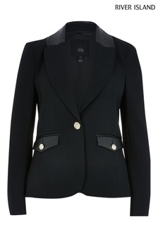 River Island Black Fitted Blazer