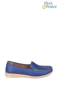 Fleet & Foster Blue Cherwell Slip-On Loafer Shoes