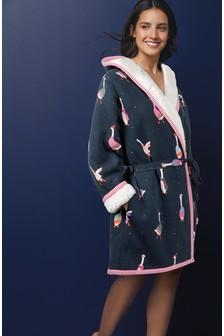 Premium Jersey Borg Snuggle Robe