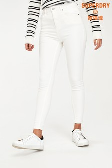 Superdry White High Rise Skinny Jeans