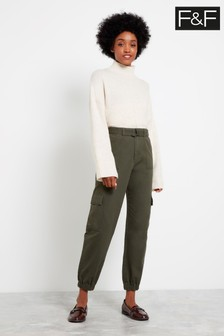 F&F Khaki Cargo Trousers