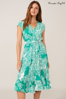 Phase Eight Green Cosette Paisley Dress