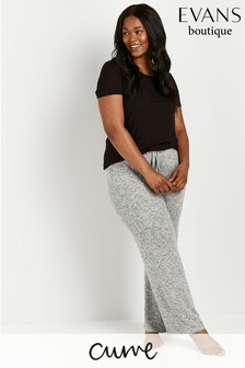 Evans Curve Grey Soft Touch Joggers