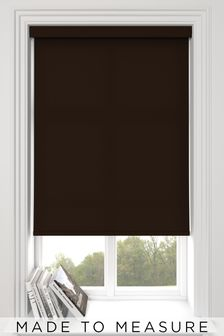 Asher Espresso Brown Made To Measure Light Filtering Roller Blind