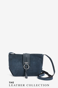 Leather And Suede Across-Body Bag